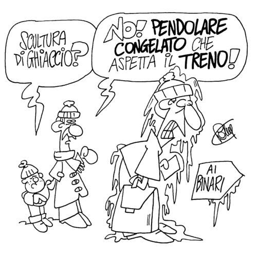 Il grande freddo - Vignetta di Roberto Valente