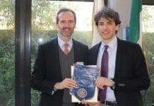 Il Presidente Rotary Club Gavi Libarna Natale Spineto e Stefano Guido.