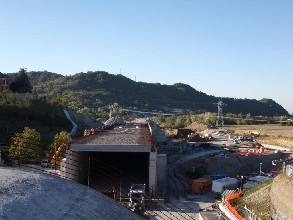 Il cantiere del Terzo Valico a Moriassi (Arquata Scrivia)