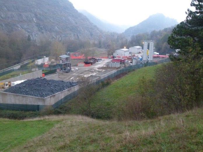 Il cantiere del Terzo valico di Voltaggio alla fine del 2013