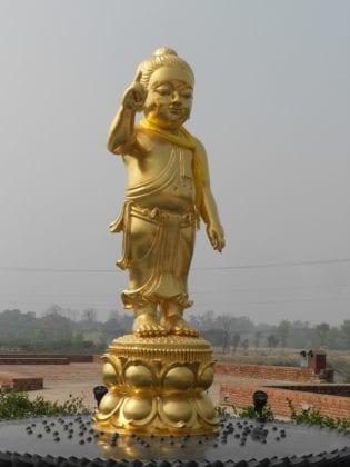 La statua del Budda bambino