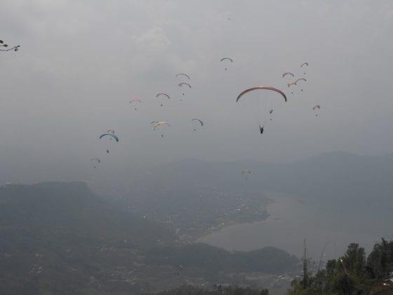 Paragliding a Pokhara