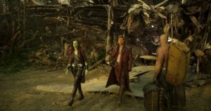 Gamora, Star-Lord/Peter Quill e Drax