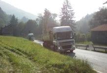 terzo valico castagnola polveri e camion