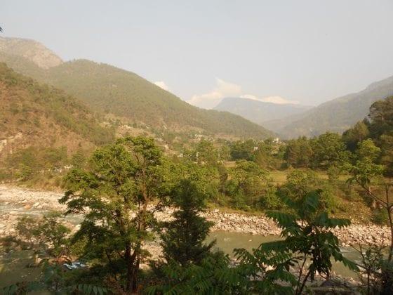 Vista dal tetto dell'ashram