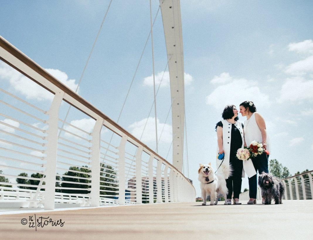Lia e Caterina sul ponte Meier