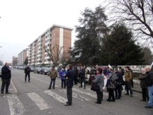 Un presidio di cittadini ad Alessandria contro il progetto della Riccoboni-Grassano
