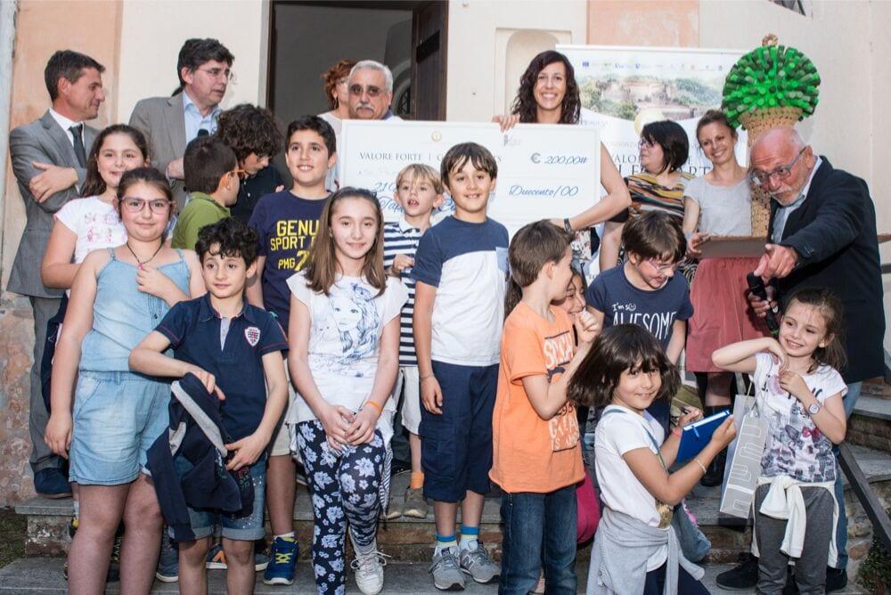 Gli alunni della scuola di Tassarolo