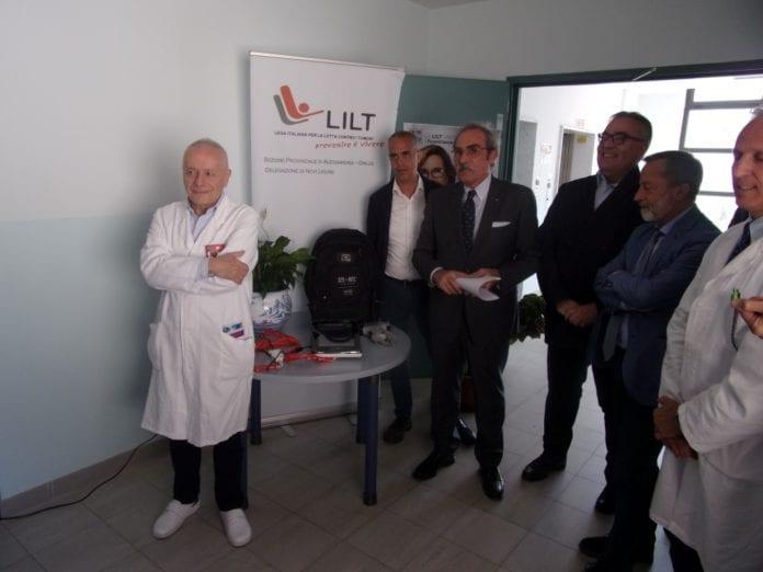 La presentazione dell'ecografo pic ieri in ospedale a Novi Ligure