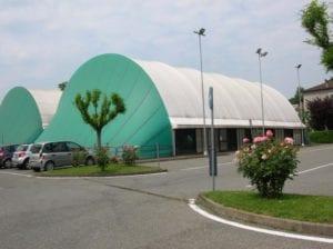 Un'immagine del centro sportivo del Geirino a Ovada: al suo interno si trova anche l'ostello