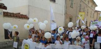 Una manifestazione a Sezzadio contro la discarica Riccoboni