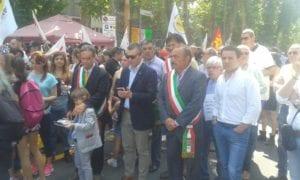 I sindaci presenti alla manifestazione