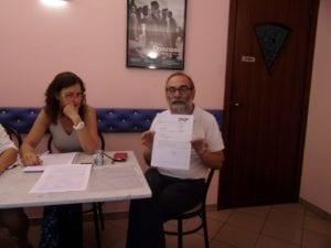 Silvia Bona (No Amianto Terzo valico Alessandria) e Mario Bavastro (Legambiente Val Lemme)