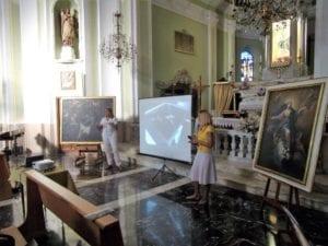 La presentazione del restauro al santuario di Gavi