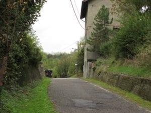 La strada comunale della Crenna a Serravalle Scrivia