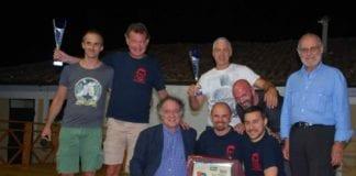 La premiazione delle squadre che hanno partecipato al quadrangolare di calcio Memorial Andrea Fontana