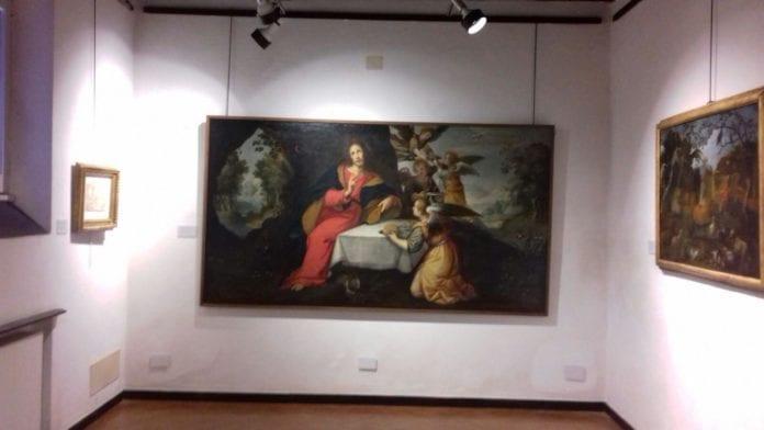 Uno dei dipinti della mostra dedicata a Sinibaldo Scorza