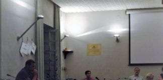 Marco Bertoli, unico fra i banchi dell'opposizione