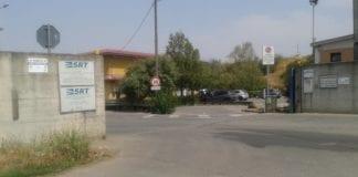L'ingresso della discarica di rifiuti di Novi Ligure
