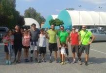 I partecipanti al campus per disabili con Roberto Bruzzone (al centro)