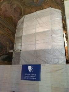 parrocchia di san martino - foto abside con cartello CRAL