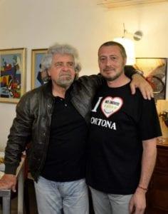 Pino Cuniolo con Beppe Grillo