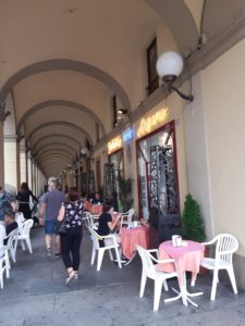 Tortona, portici via Emilia