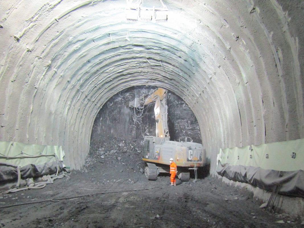 Lo scavo del tunnel di Castagnola