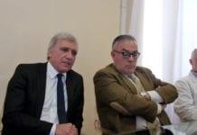 Carmine Di Somma, primario di Chirurgia a Novi Ligure, e Gilberto Gentili, direttore Asl Al