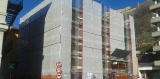 Il cantiere della caserma dei carabinieri di Gavi