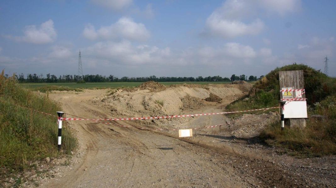 La ex cava di cascina Viscarda, a Sale