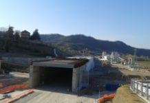 Il cantiere del Terzo valico di Moriassi, ad Arquata Scrivia