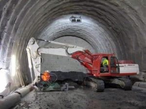 Lo scavo del tunnel del Terzo valico a Voltaggio