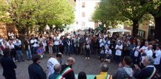 Isola del Cantone manifestazione contro il biodigestore