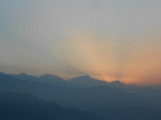 Alba sull'Himalaya