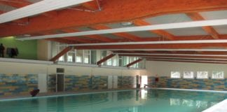 La vasca della piscina coperta di Arquata Scrivia