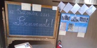 L'aula ascolastica ricostruita nel museo di Cassano