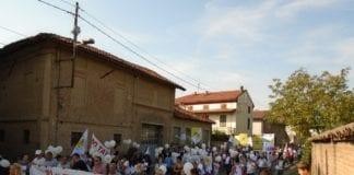 Il corteo organizzato a Sezzadio negli anni scorsi