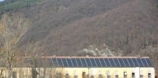 L'impianto fotovoltaico installato dal Comune sul tetto della Filanda