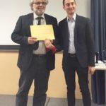 le autorità del Comune di Ispra premiano Danilo Bottiroli